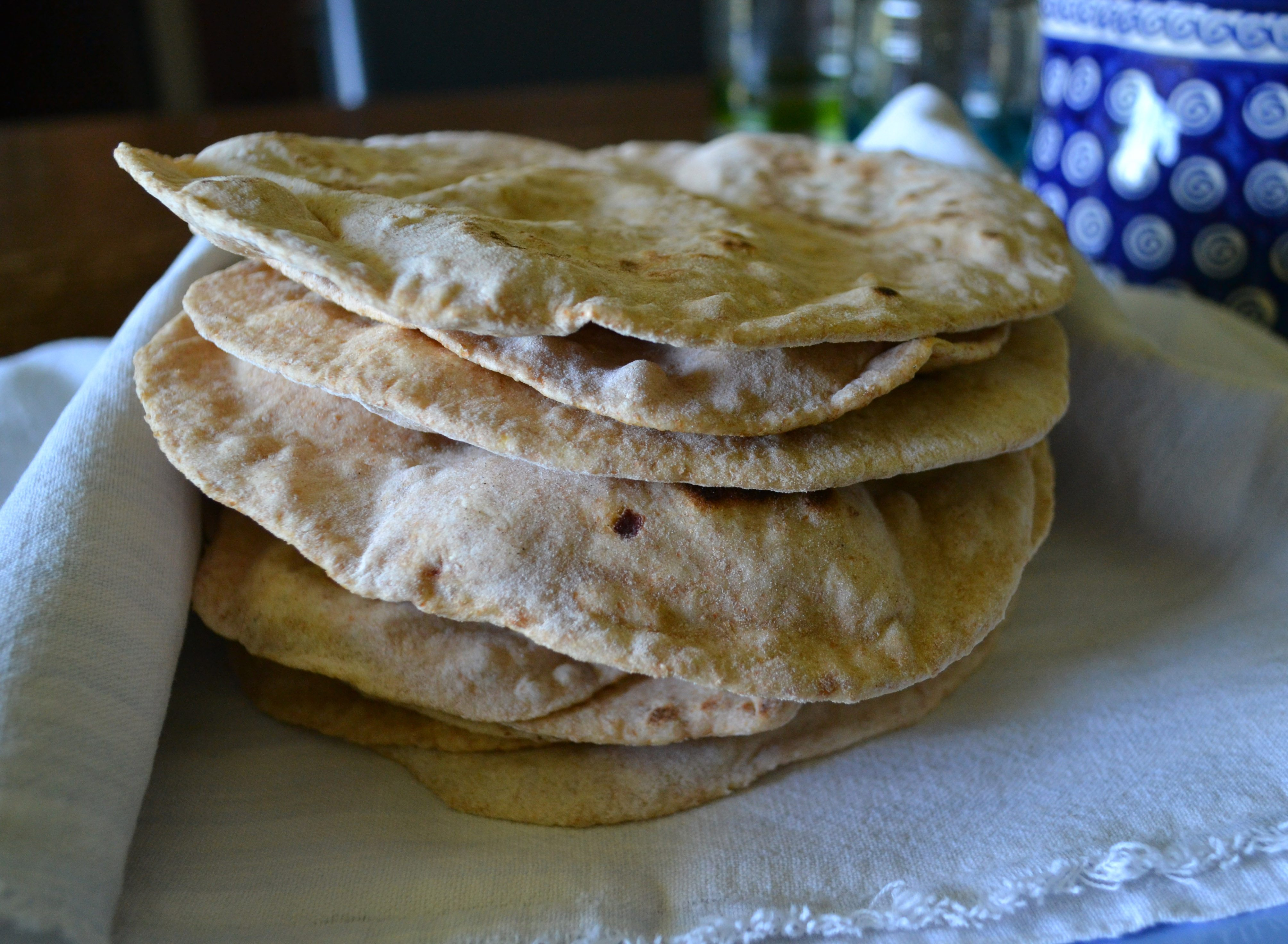 Pile of Whole Wheat Chipotle Tortillas