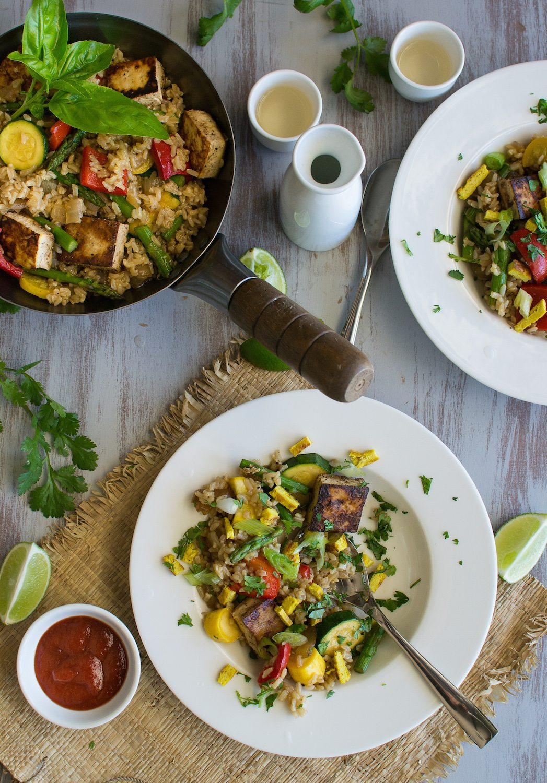 Oil-free Vegan Vegetable Fried Rice by An Unrefined Vegan
