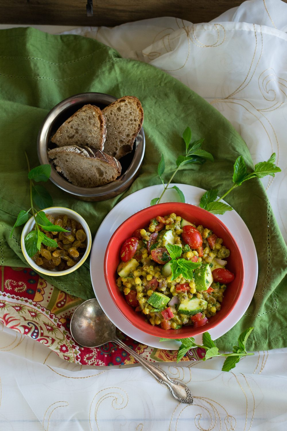 Oil-free Curried Couscous & Vegetable Salad by An Unrefined Vegan