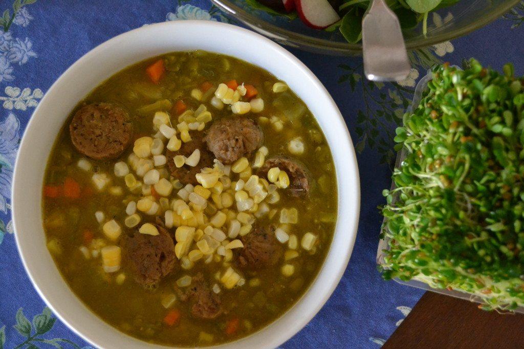 Vegan Loaded Split Pea Soup