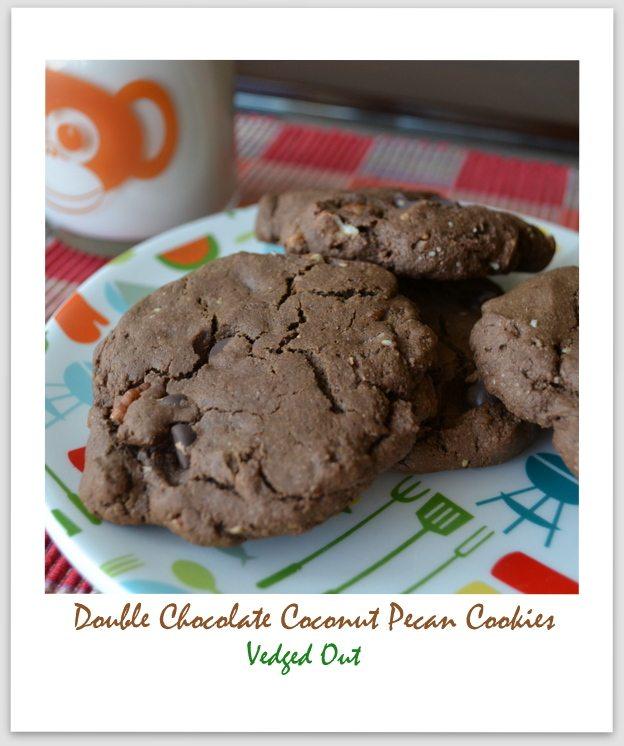 Double Chocolate Coconut Pecan Cookies
