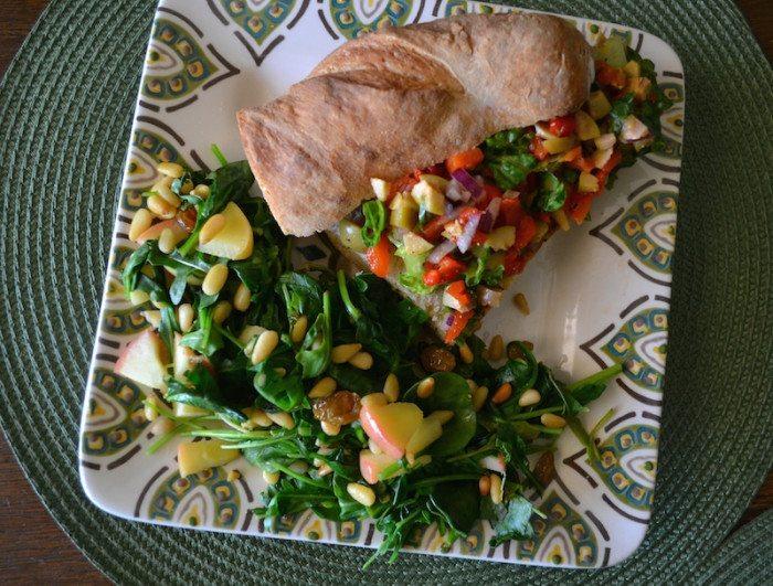 Salad & Veggie Sandwich An Unrefined Vegan