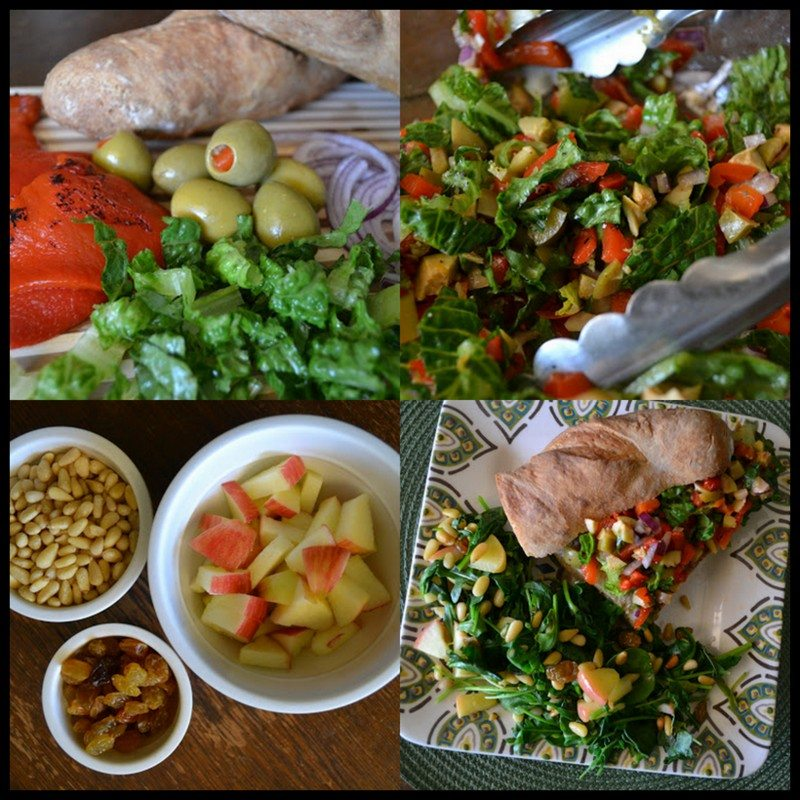 Veggie Sandwich and Salad An Unrefined Vegan