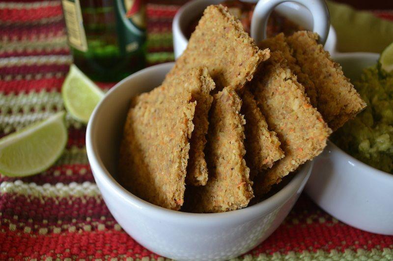 Raw, Vegan Parmesan Pita Chips by An Unrefined Vegan