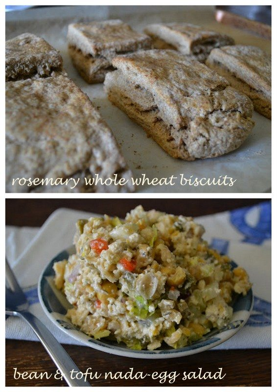 Biscuits and Nada-Egg Salad