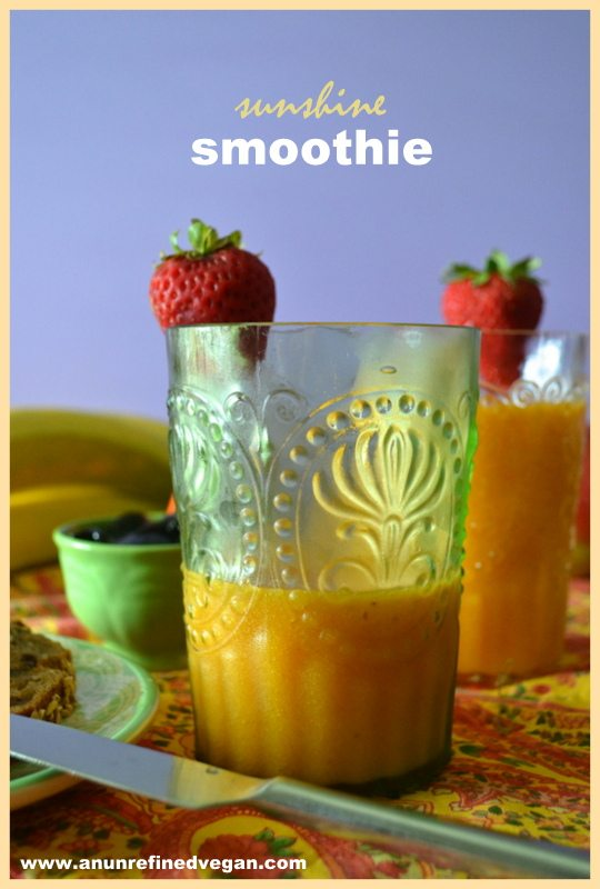 Sunshine Smoothie by An Unrefined Vegan