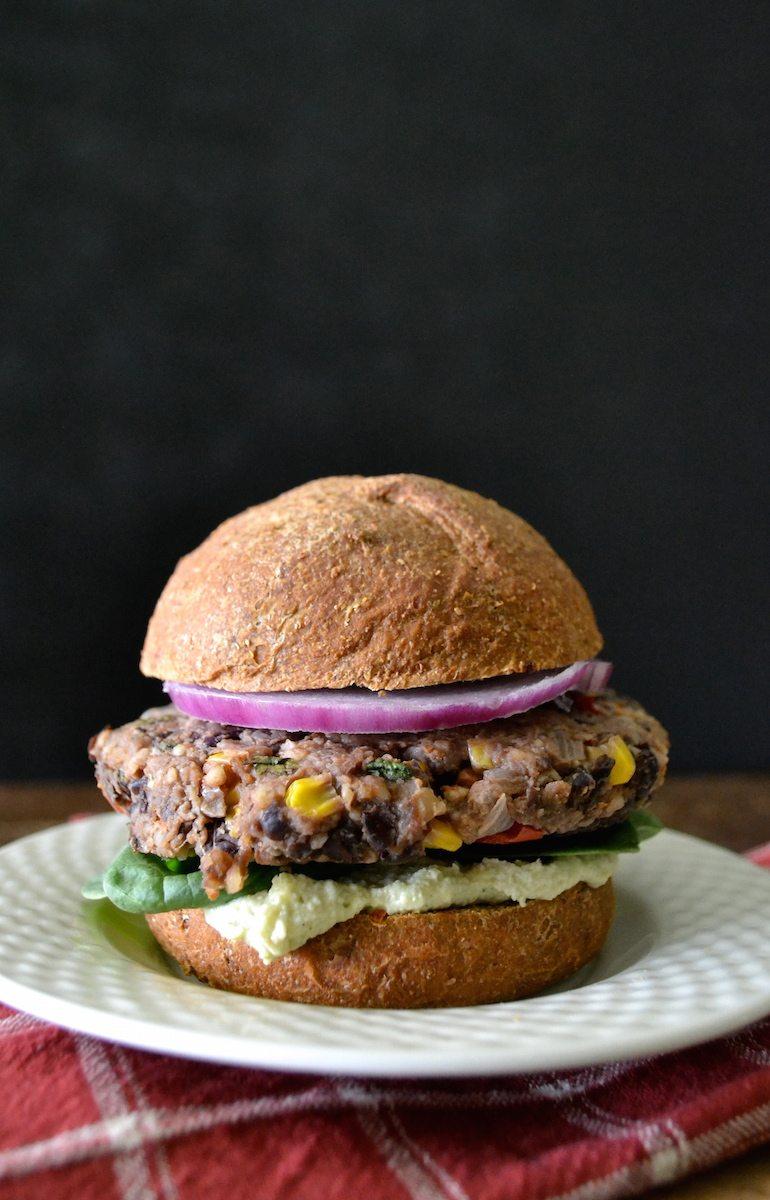 Black Bean, Corn, & Walnut Burgers by An Unrefined Vegan
