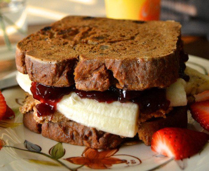 French Toast PB & J An Unrefined Vegan