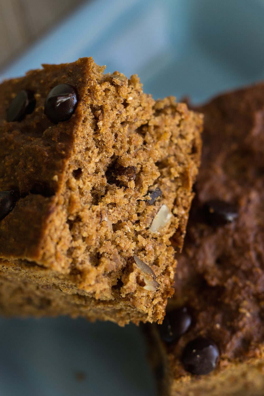 Vegan Banana Bread Chocolate Chip Squares by An Unrefined Vegan