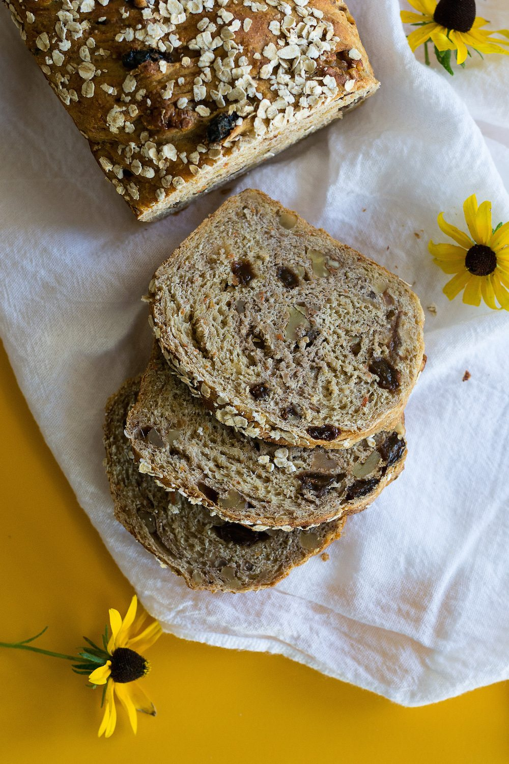 Carrot Walnut Bread with Raisins & Ginger by An Unrefined Vegan