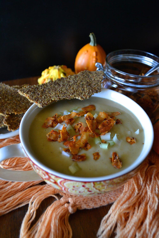 Creamy Potato and Cauliflower Soup by An Unrefined Vegan