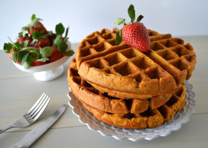 Pumpkin Apple Pecan Pie Waffles An Unrefined Vegan
