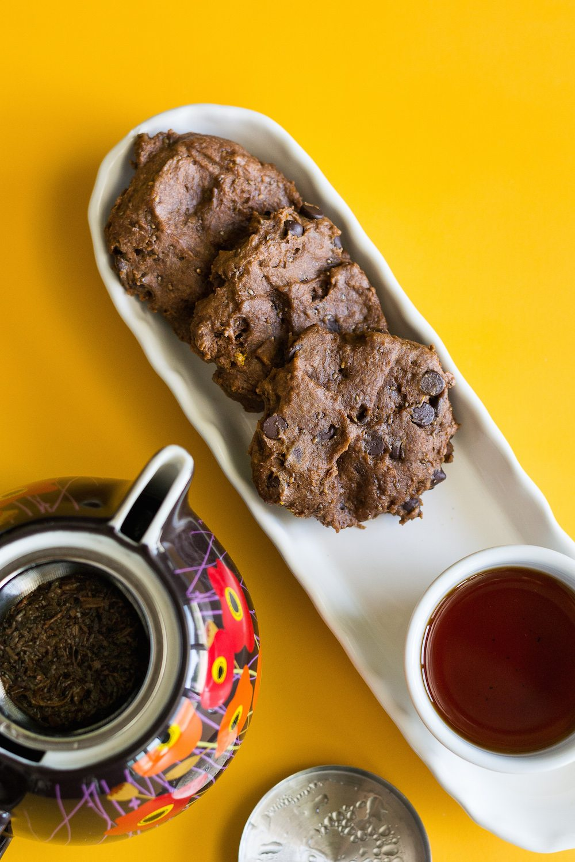Oil-free Triple Orange Chocolate Chocolate Chip Cookies by An Unrefined Vegan