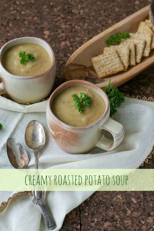 Creamy Roasted Potato Soup
