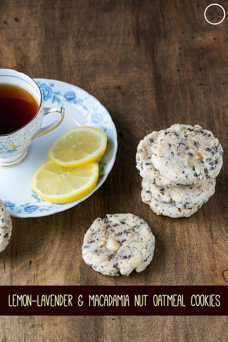 Gluten-free Sugar-free Lemon Lavender Cookies by An Unrefined Vegan