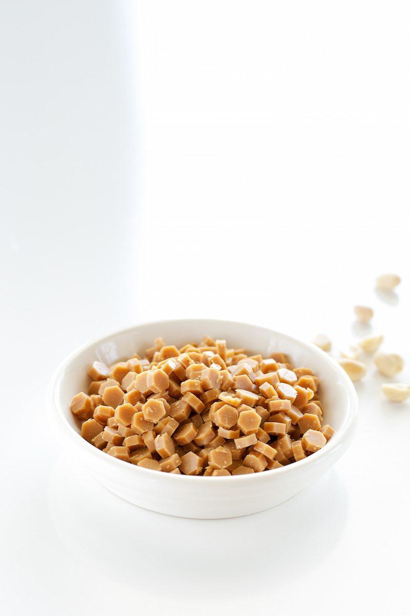 Vegan, Sugar-free Peanut Butter Baking Chips by An Unrefined Vegan