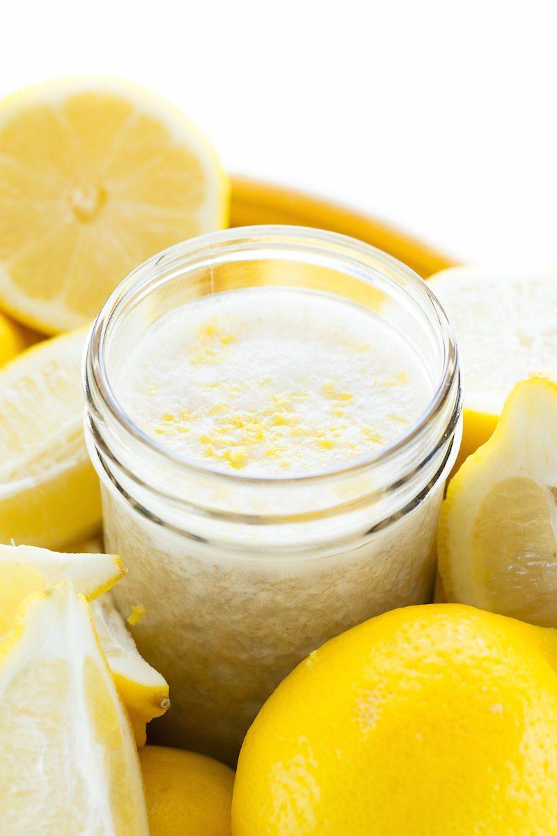 Sugar-free Lemon Ginger Cream Sipper by An Unrefined Vegan
