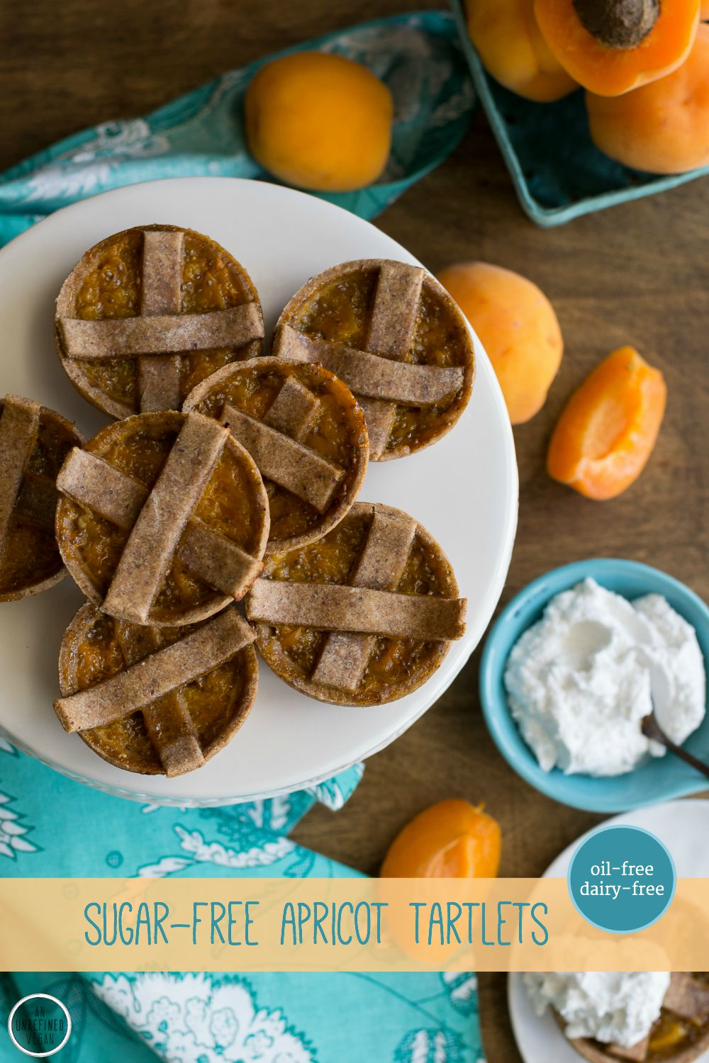 Apricot Tartlets by An Unrefined Vegan