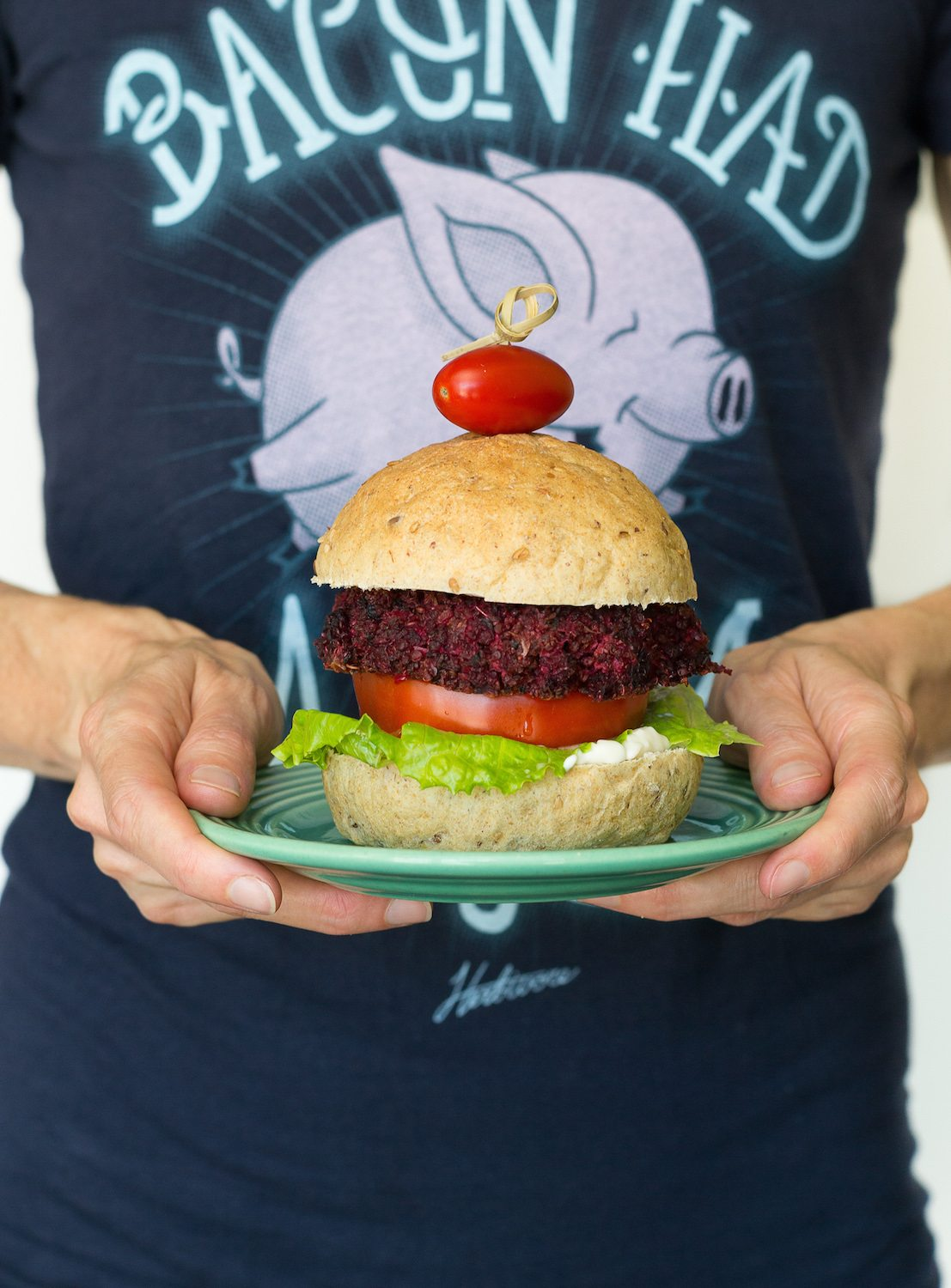 Roasted Beet Burgers Photo by An Unrefined Vegan