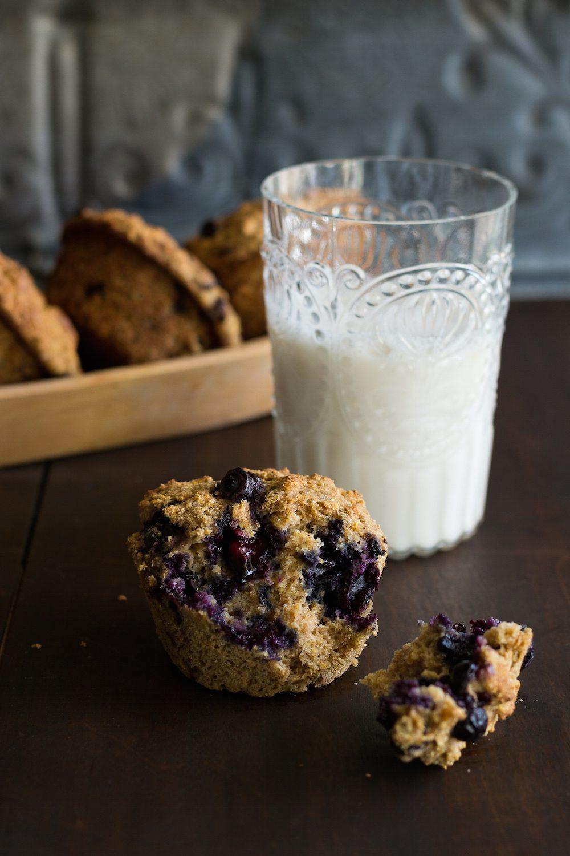 Multigrain Blueberry Muffins by An Unrefined Vegan