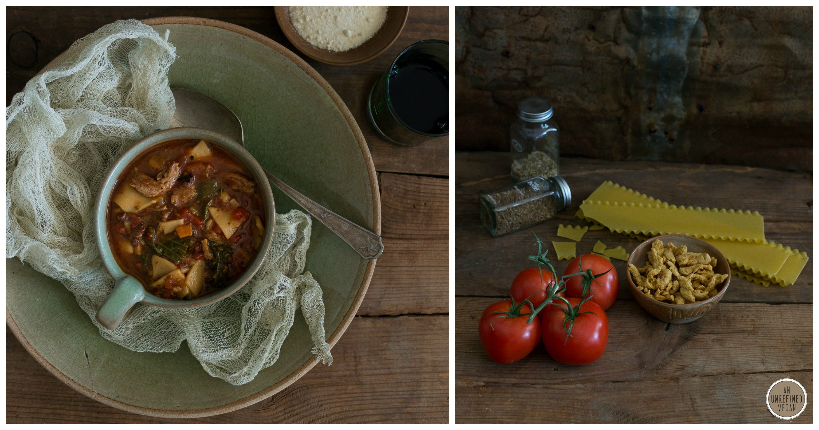 Vegan Lasagna Soup by An Unrefined Vegan