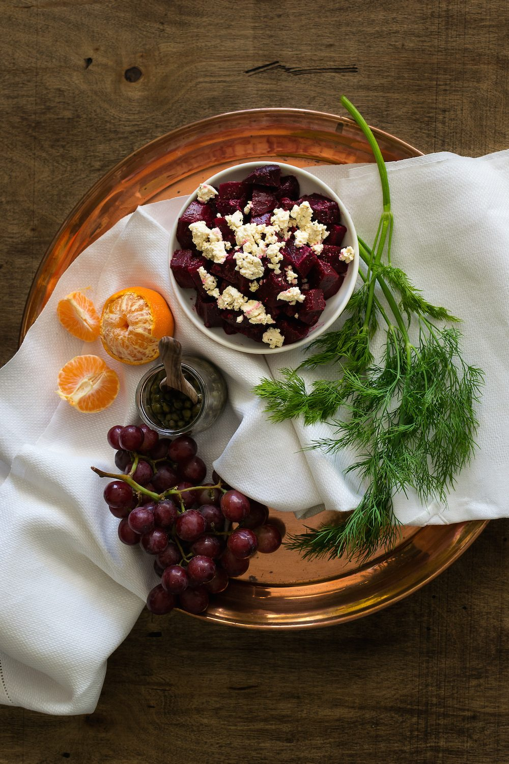 Roasted Beet Salad with Horseradish-Dill Dressing by An Unrefined Vegan