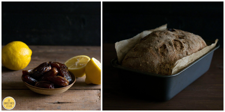 Vegan Whole Wheat Lemon Date Loaf by An Unrefined Vegan