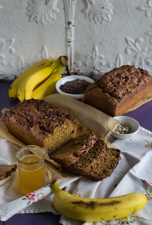 Oil-Free Vegan Banana Beer Bread by An Unrefined Vegan