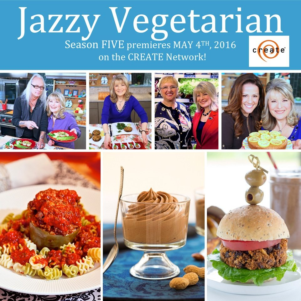 CREATE TV Jazzy Vegetarian 2016 LOGO