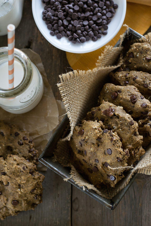 Vegan Sunbutter Chocolate Chip Oatmeal Cookies by An Unrefined Vegan