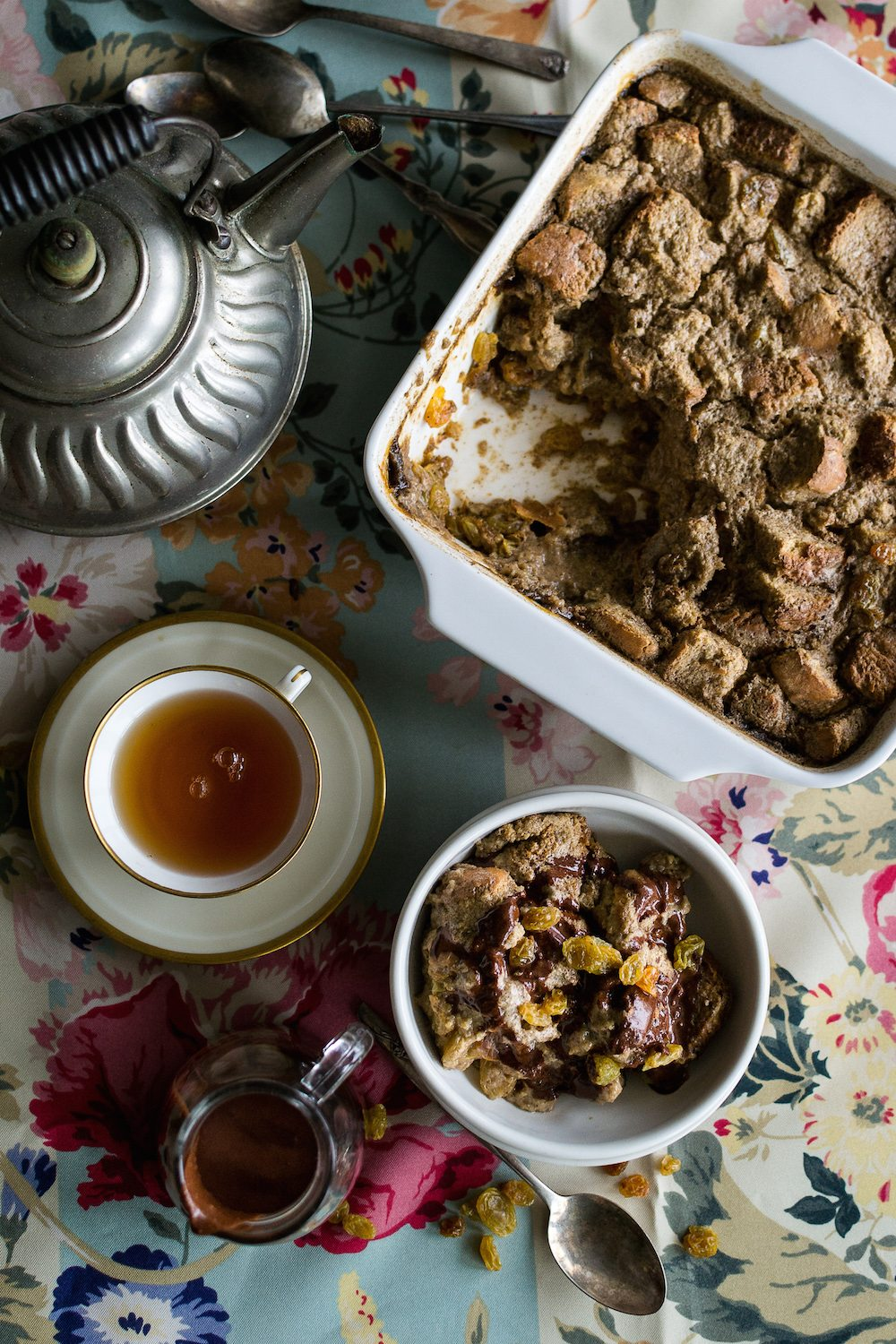 Oil-free Coffee Cardamom Bread Pudding by An Unrefined Vegan