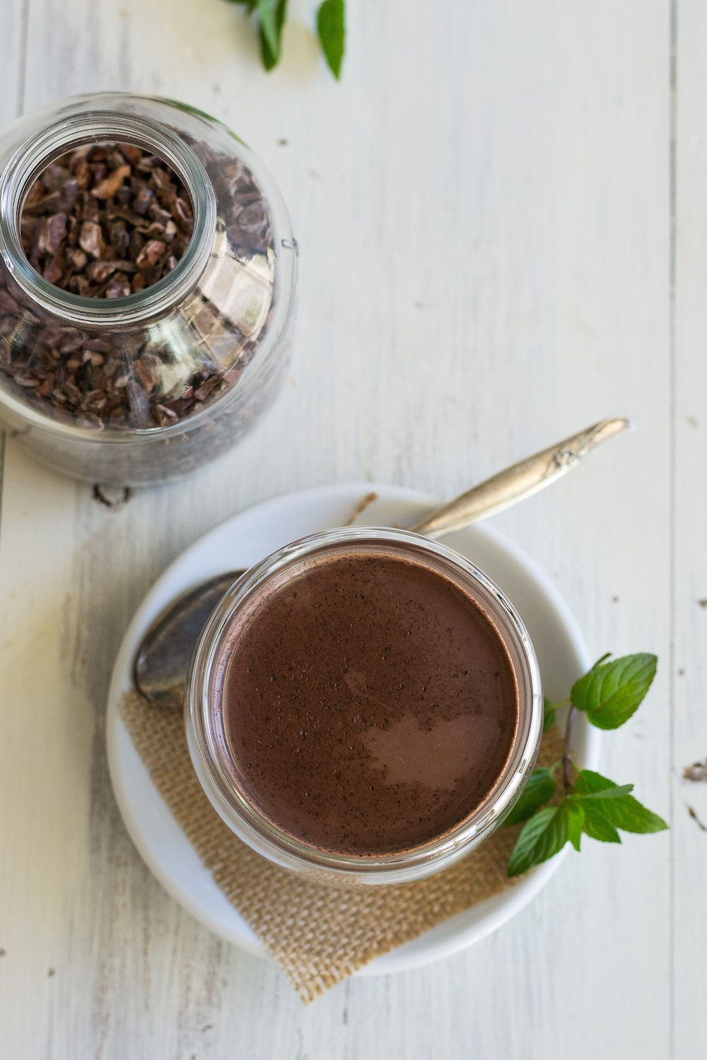 Sugar-free MInty Hot Cocoa by An Unrefined Vegan