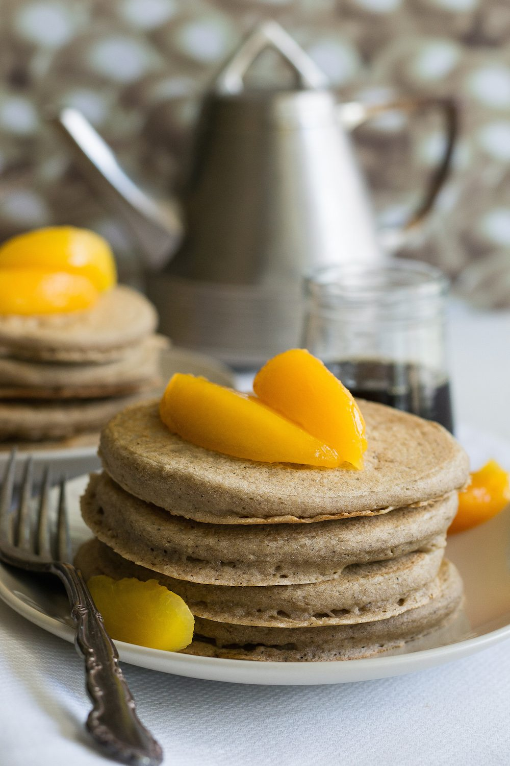 Sugar-free, Oil-free Vanilla Pancakes for Two by An Unrefined Vegan