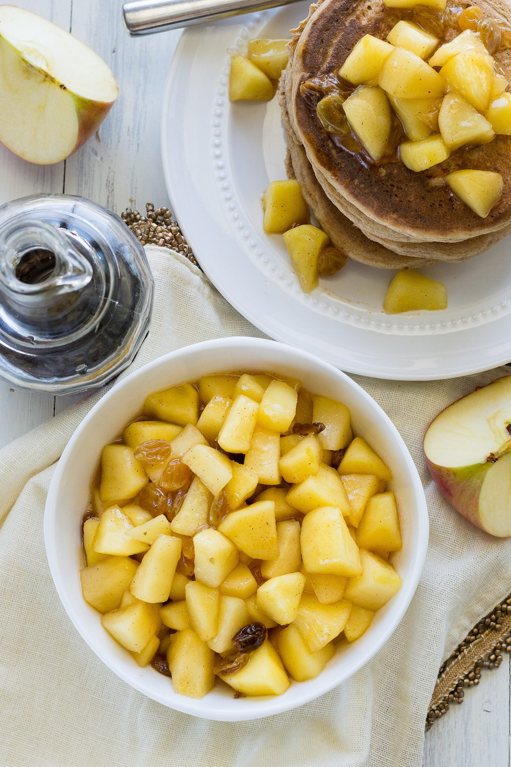 Oil-free Apple Compote by An Unrefined Vegan