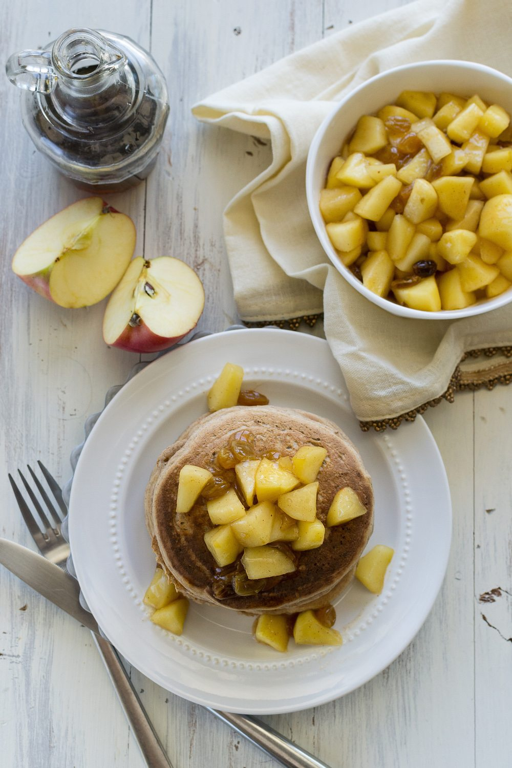 Oil-free Apple Spice Pancakes by An Unrefined Vegan