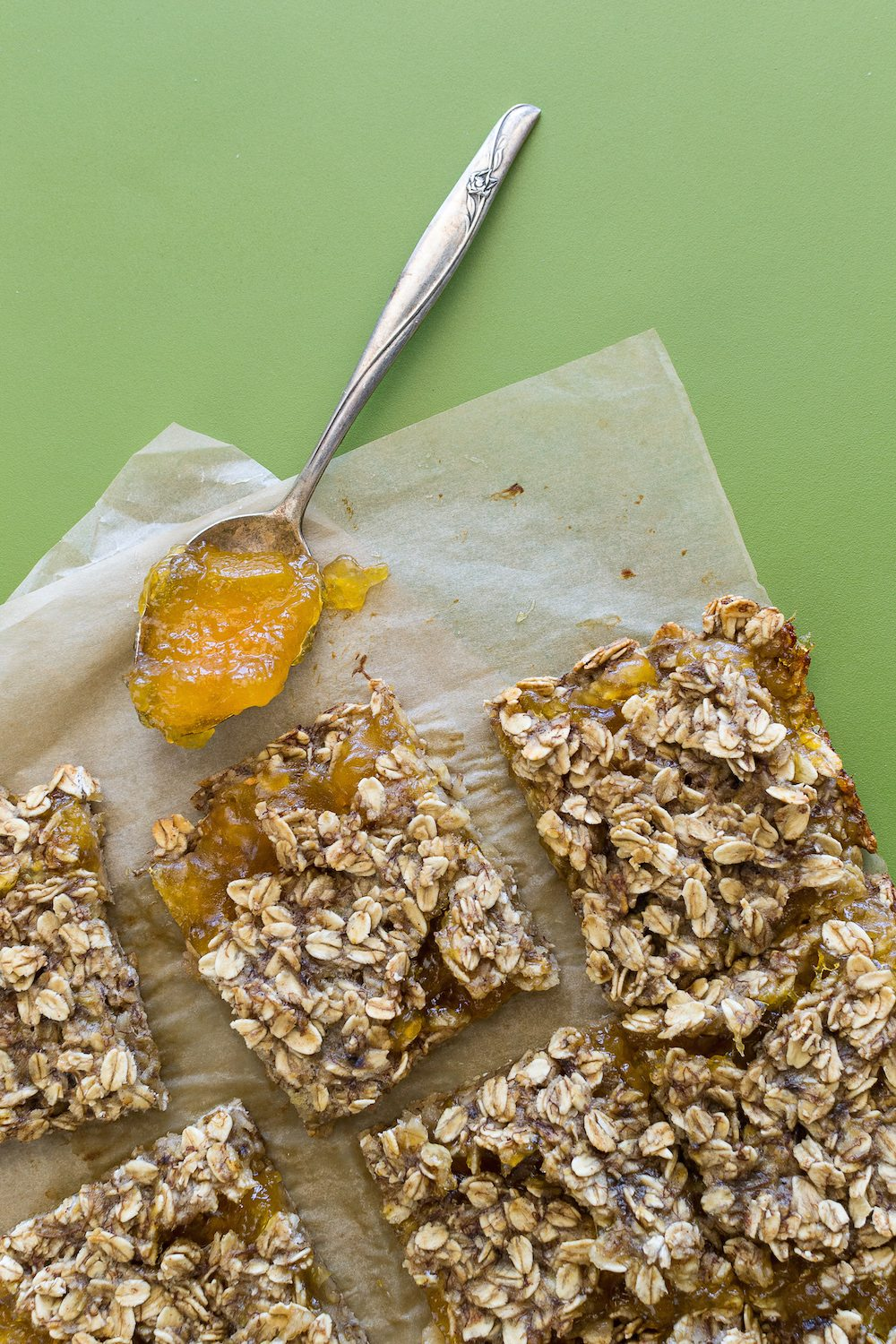 4-Ingredient Apricot Bars from Jazzy Vegetarian