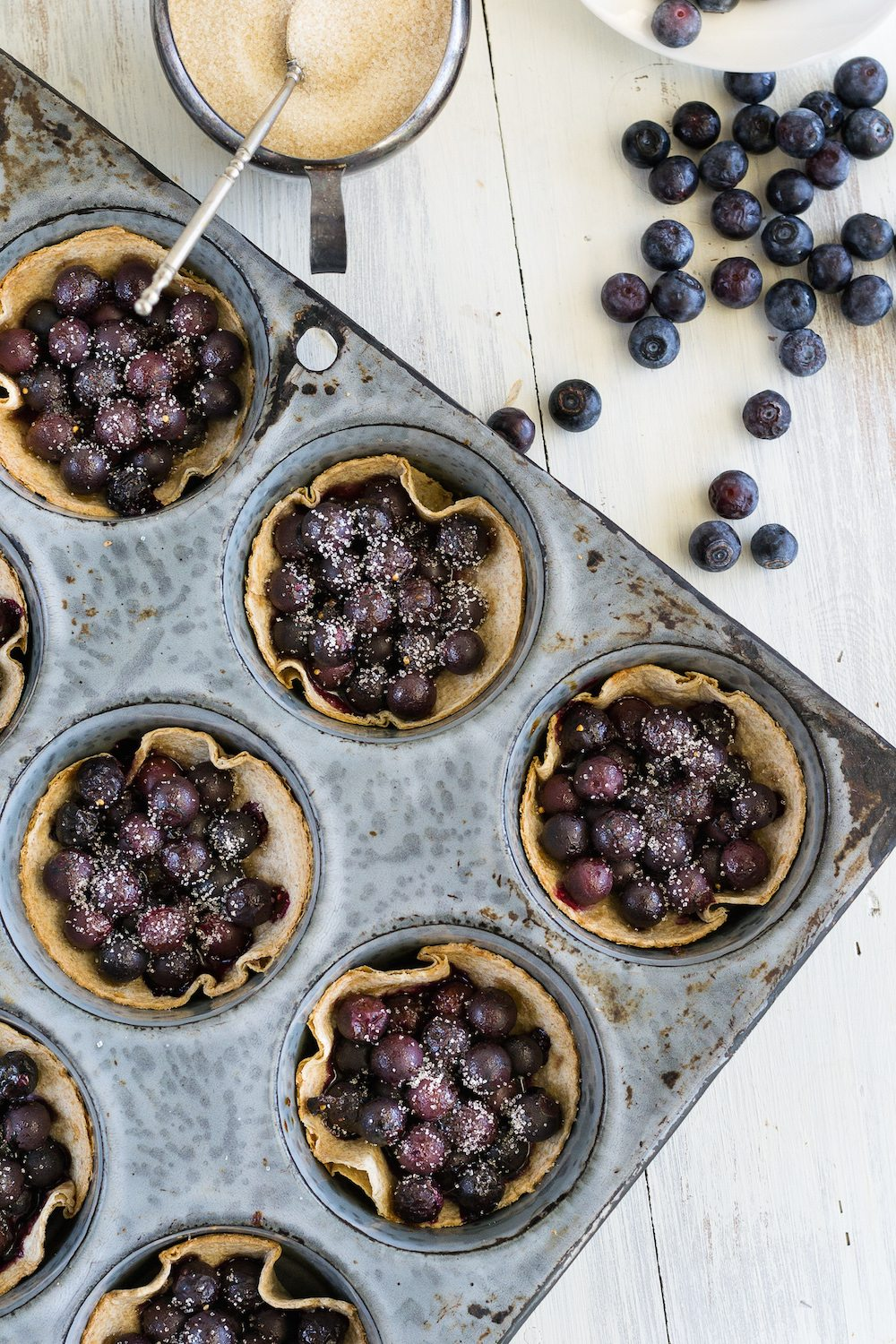 Beautiful Blueberry Tartlets by Jazzy Vegetarian