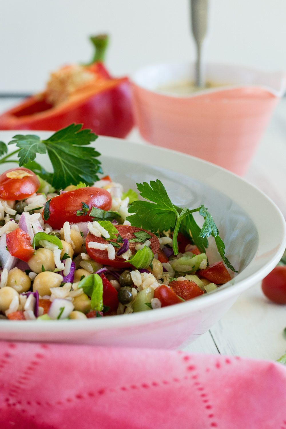 Herbed Rice and Bean Salad by Jazzy Vegetarian