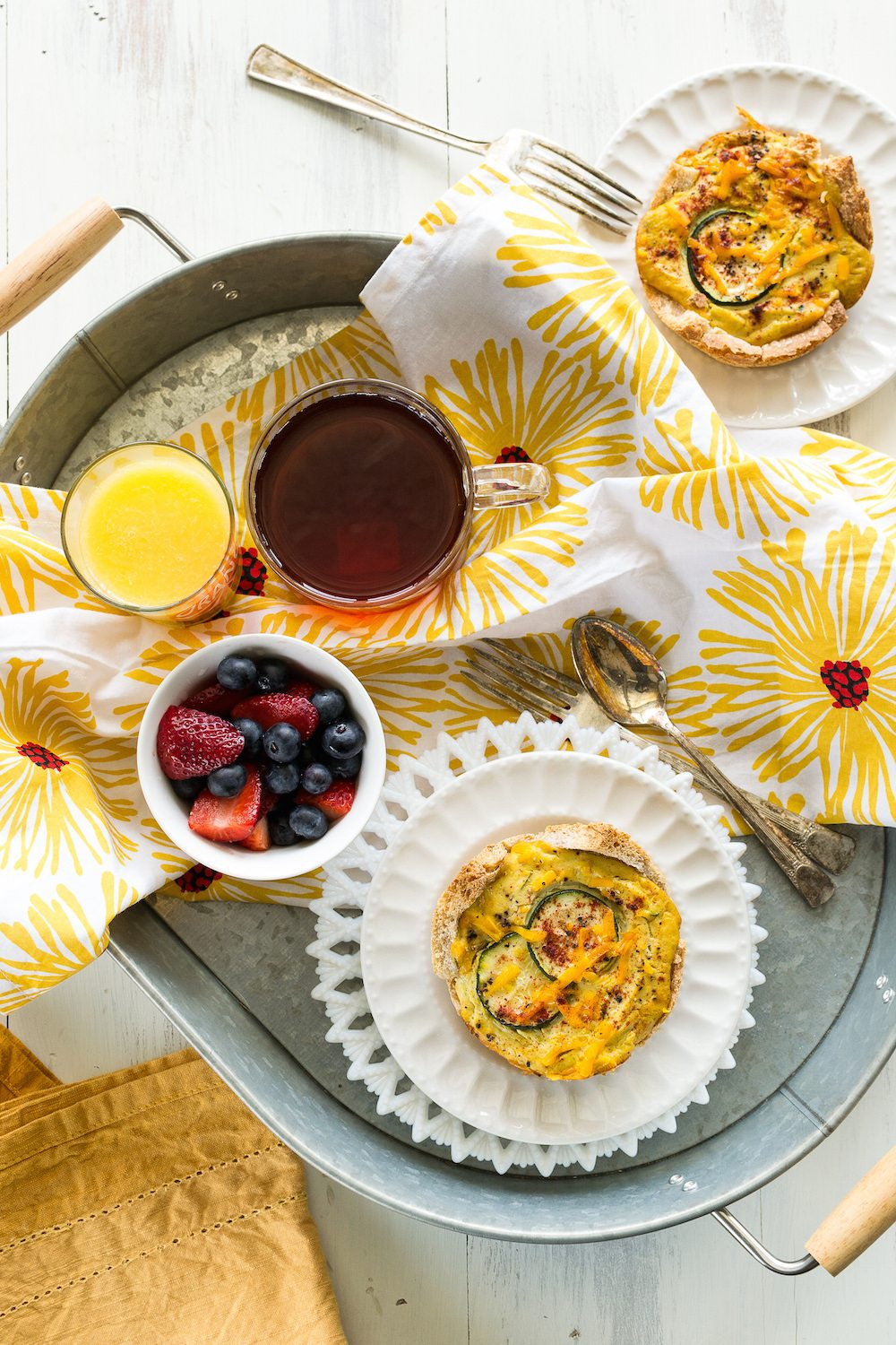 Zucchini Quiche Cups by the Jazzy Vegetarian