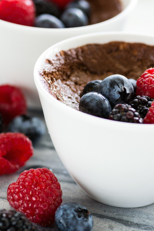 Baked Chocolate Custard by An Unrefined Vega